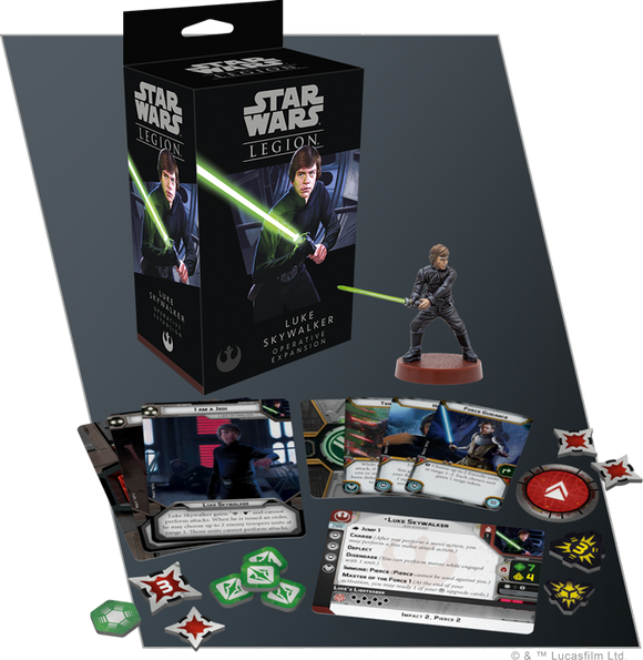 Star Wars Legion Luke Skywalker Operative Expansion Contents Assembled and Painted