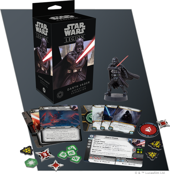 Star Wars Legion Darth Vader Operative Expansion Contents Assembled and Painted