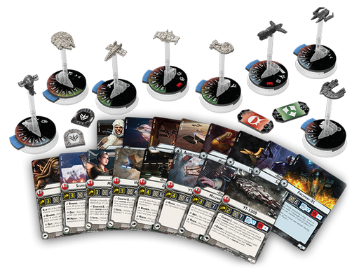Star Wars Armada Rogues and Villains Expansion Pack - Contents Spread