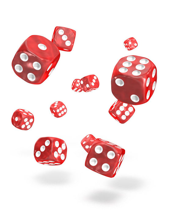 Oakie Doakie Dice D6 Dice 12 mm Marble - Red (36) Dice Thrown