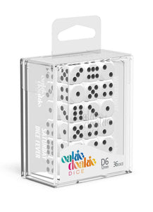 Oakie Doakie Dice D6 Dice 12 mm Solid - White (36) Front View