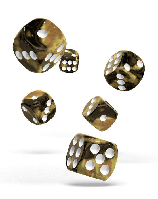 Oakie Doakie Dice D6 Dice 16 mm Gemidice - Hornet (12) Dice Thrown