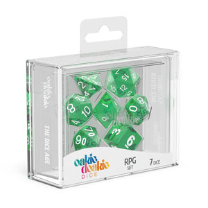 Oakie Doakie Dice RPG Set Translucent - Green (7) Box Front