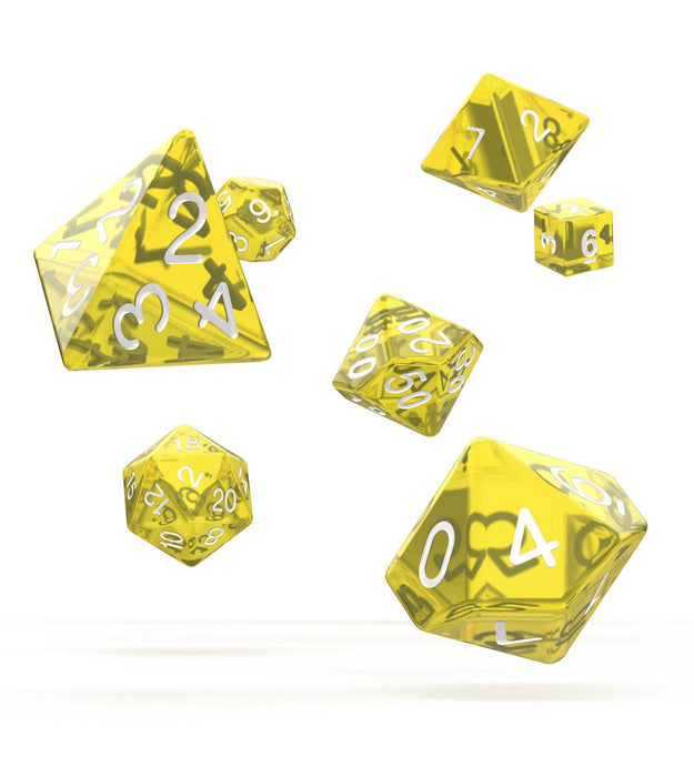 Oakie Doakie Dice RPG Set Translucent - Yellow (7) Dice