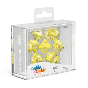 Oakie Doakie Dice RPG Set Translucent - Yellow (7) Box Front