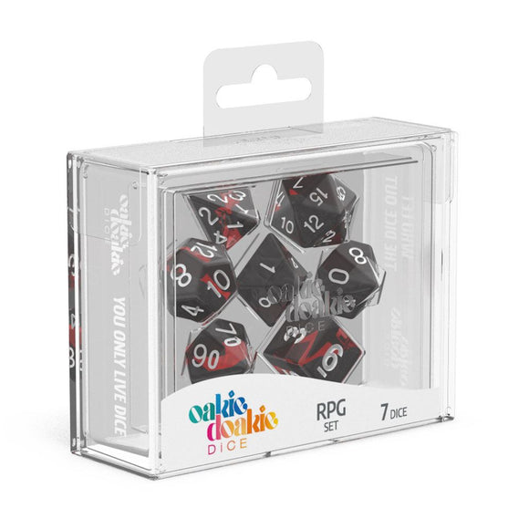 Oakie Doakie Dice RPG Set Enclave Ruby - Front of Packaging