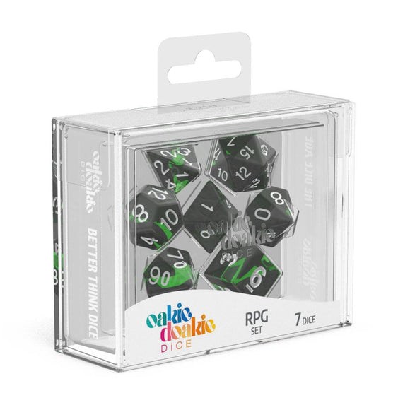 Oakie Doakie Dice RPG Set Enclave Emerald - Front of Packaging