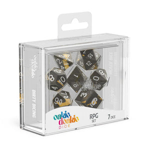 Oakie Doakie Dice RPG Set Enclave Amber - Front of Packaging