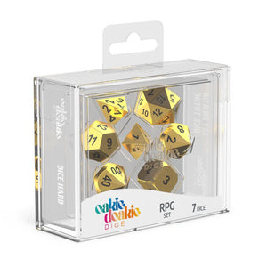 Oakie Doakie Dice RPG Set Metal Dice - Aurym (7) Front View