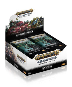 Age of Sigmar Champions Savagery Booster Box