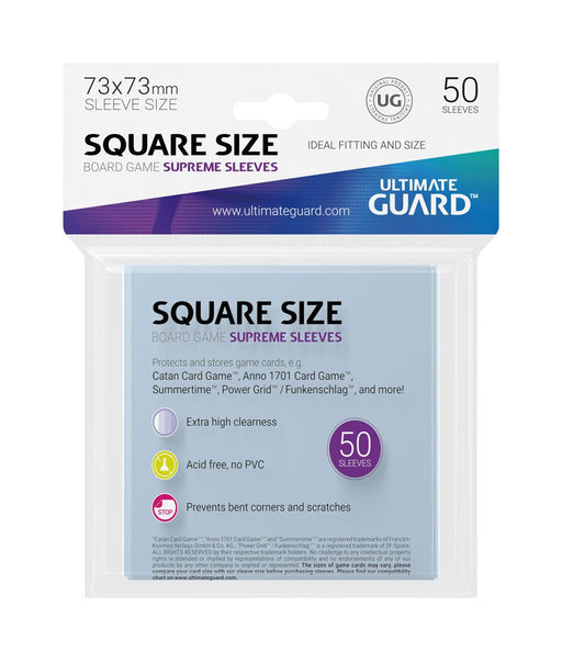Ultimate Guard Supreme Board Game Sleeves Square (50)-Ultimate Guard-Athena Games Ltd