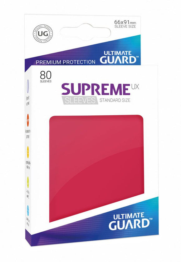 Ultimate Guard Supreme UX Sleeves Standard Size Red (80)