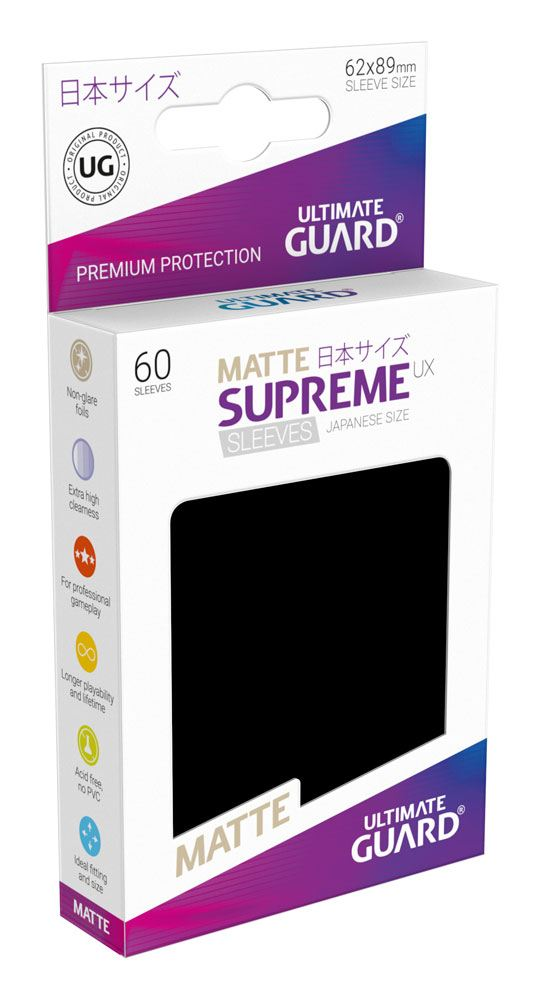 Ultimate Guard Supreme UX Sleeves Japanese Size Matte Black (60)