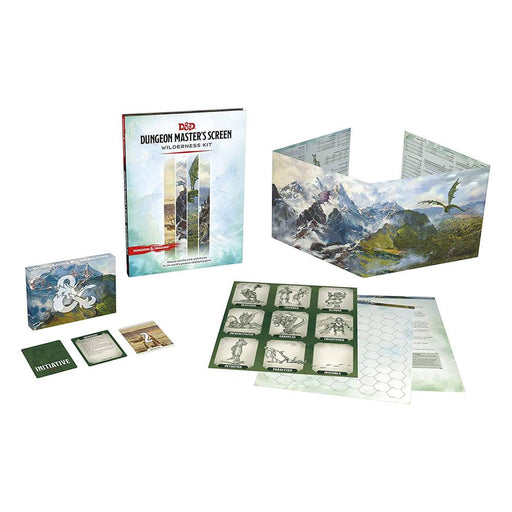 D&D Dungeon Master's Screen Wilderness Kit - Product Spread
