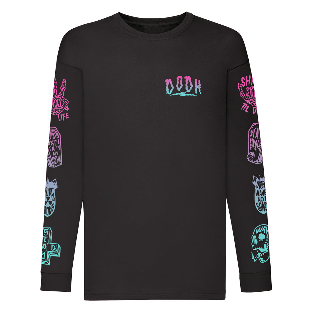 Kids Tattoo Flash Long Sleeve Tee