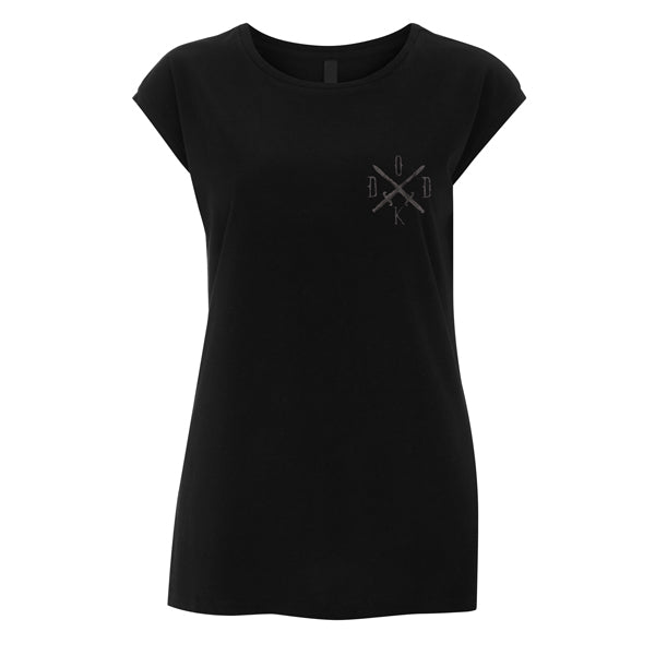 Ladies Sword Small Front Print Sleeveless Tee