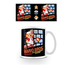 "Pyramid International"" Super Mario (NES Cover) Official Boxed Ceramic Coffee/Tea Mug, Paper - Grizzi"