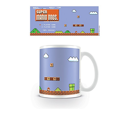 Super Mario Pyramid International (Retro Title) Official Boxed Ceramic Coffee/Tea Mug, Multi-Colour - Grizzi