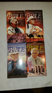 Charlton Heston presents The Bible-Genesis, Moses,Jesus, Passion - Lot of 4 VHS - 1992-1993