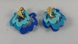 Avon 1987 Color Curves Convertible Clip Earrings
