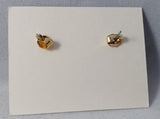 "Avon 1990 Initial ""R"" Pierced Earrings in original box"