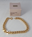 Avon Squared Links Bracelet Large 1990 in original box