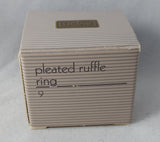 Avon 1990 Pleated Ruffle Ring Size 9 - in original box