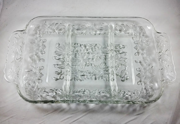 Princess House Divided Serving Dish - Fantasia Pattern - Vintage