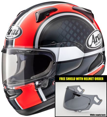 Arai Quantum-X Graphic Take Off Red