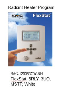 BAC-120063CW-RH FlexStat (Heater Control Program)