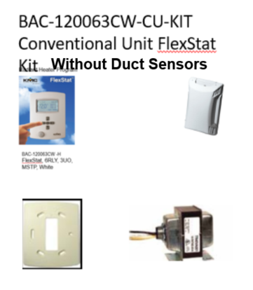BAC-120063CW-CU-KIT (Without Duct Sensors)