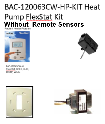 BAC-120063CW-HP-KIT (Without Remote Sensors)