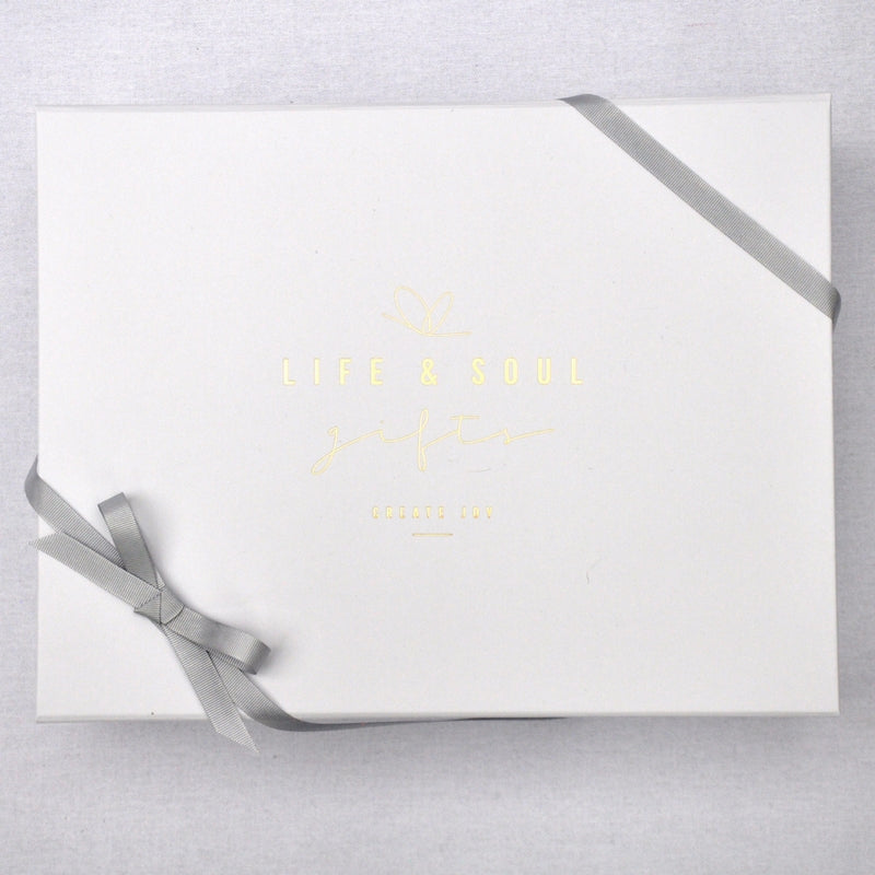 LUXURY GIFT BOX, HAND WRAPPING, RIBBON & TAG