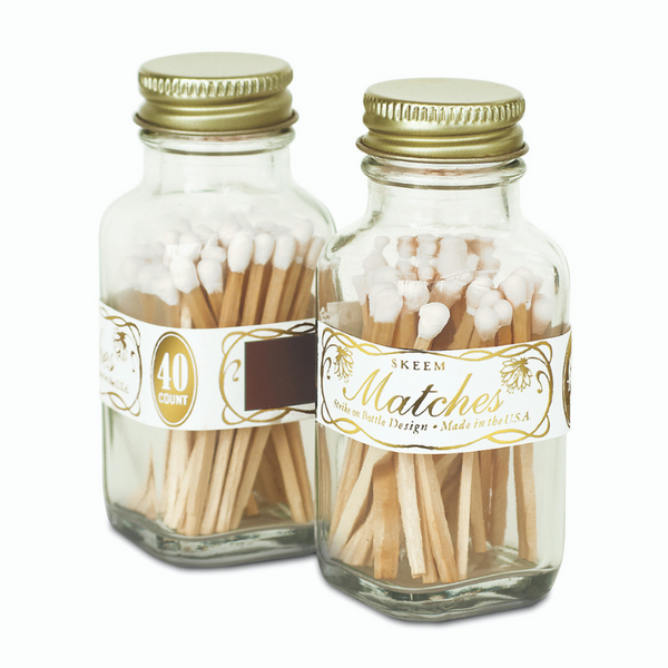 VINTAGE WHITE & GOLD MATCHES