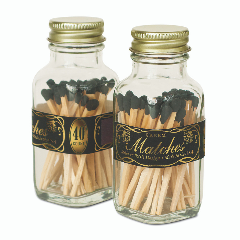 VINTAGE BLACK & GOLD MATCHES