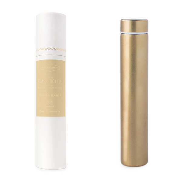 SLIM FLASK BOTTLE - GOLDEN NUGGET