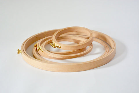 Wood Embroidery Hoops -- 8mm