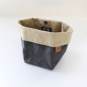 Waxed Canvas Bin/Pouch