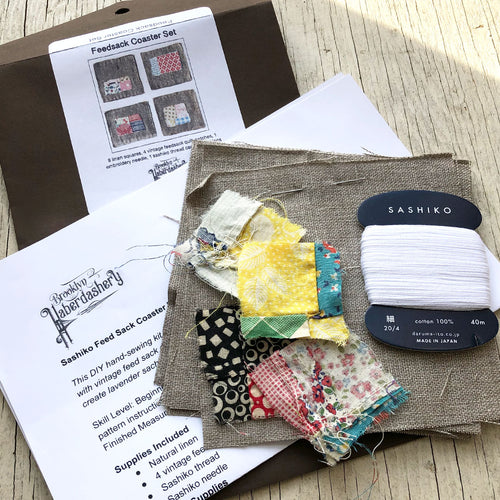 Feed Sack Coaster Kit