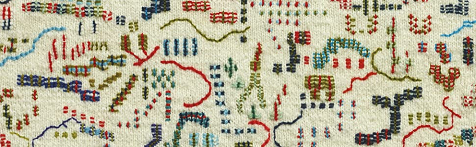 Embroidery on Knitting by Britt-Marie Christoffersson