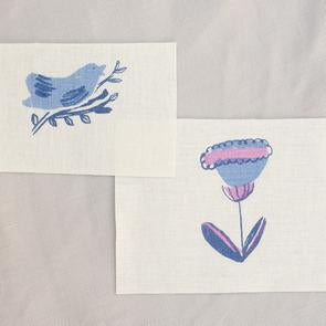 Patches: Blue Bird + Tulip