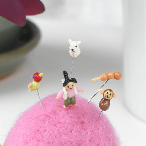 Peach Boy Folktale Pin Cushion