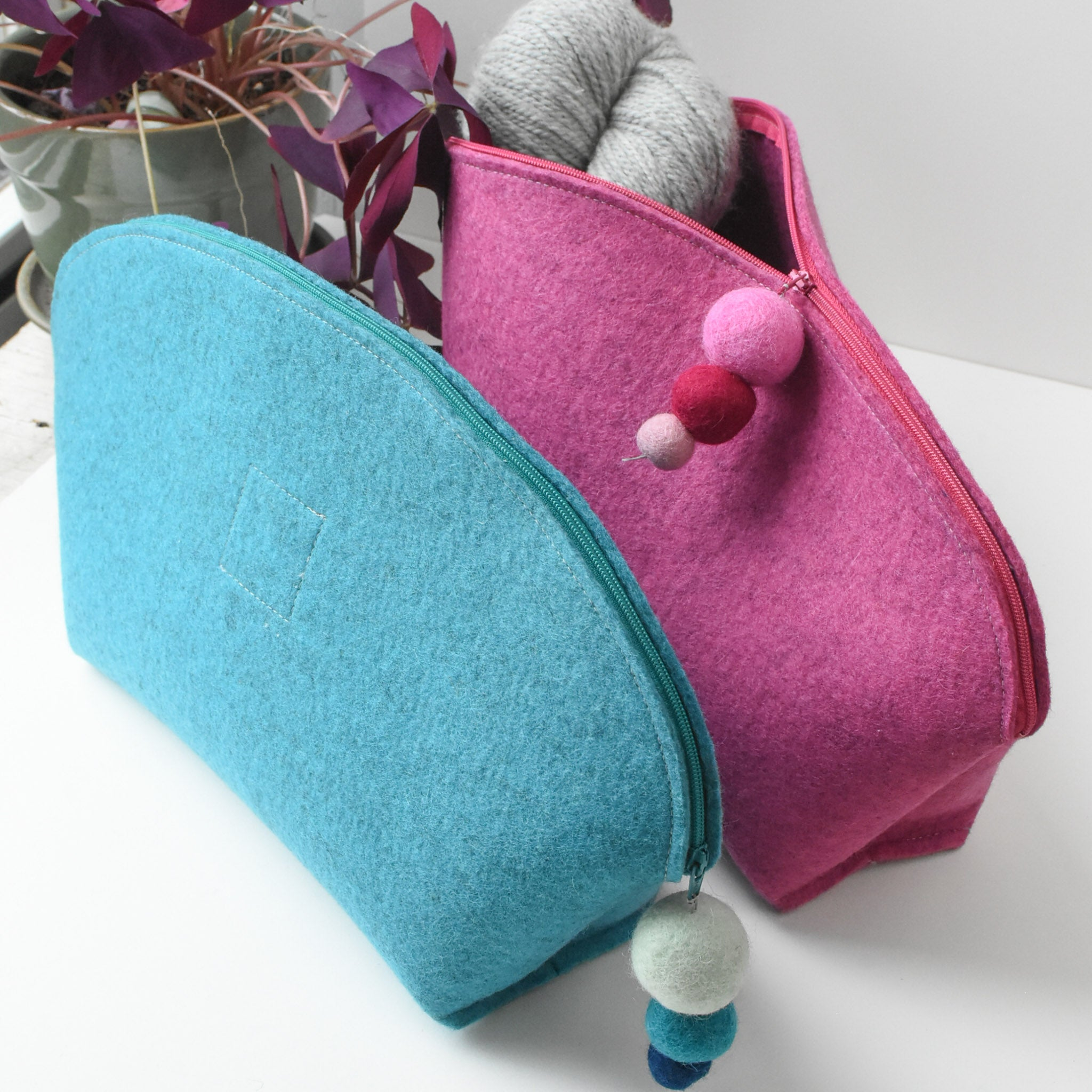 Brigid Wool Pouch, Large Brights
