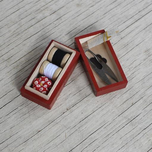 Tiny Lacquer Sewing Boxes
