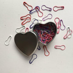 Heart Tin of Stitch Markers