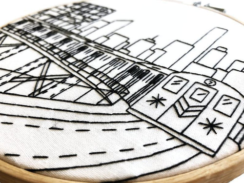 NYC Subway Embroidery Kit