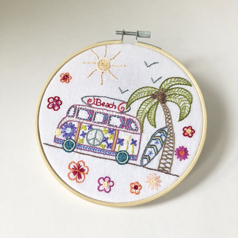Houses Pouch Embroidery Kit