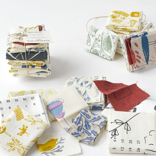 Mini Bundle of Hand-Printed Fabric