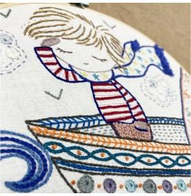 Sacha Sails the Waves Embroidery Kit