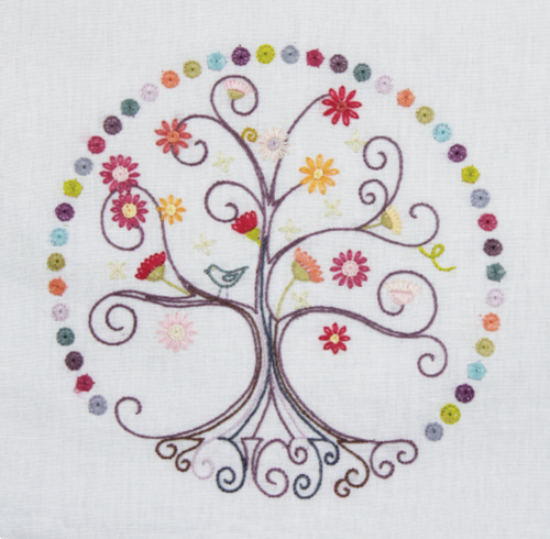 Tree of Life, Zen No. 7 Embroidery Kit